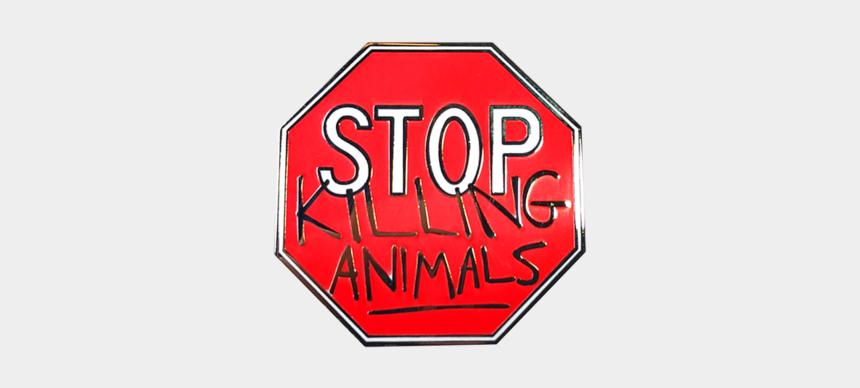 red stop sign clip art, Cartoons - Vegan Stop Sign Pin - Sign