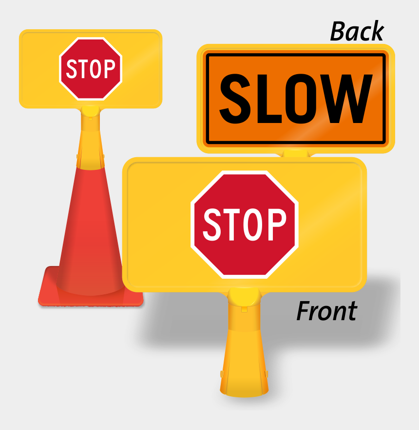 red stop sign clip art, Cartoons - Stop/slow Coneboss Sign - Stop Sign