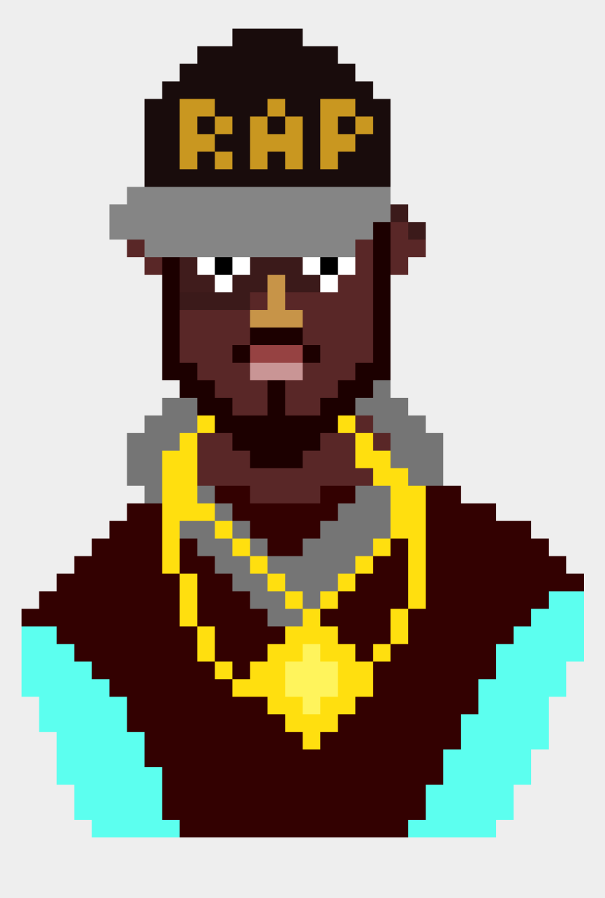 rap clip art, Cartoons - Rapper Character Pixel Art