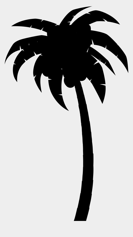 palm tree island clip art, Cartoons - Palm Trees Clip Art Silhouette Leaf Flower - Gambar Pohon Kelapa Hitam Putih