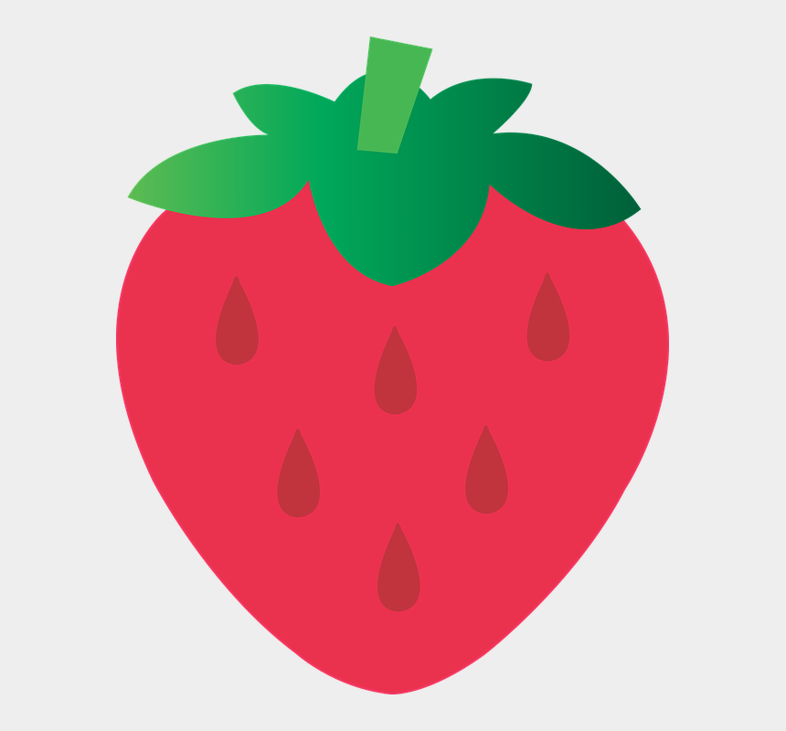 chocolate covered strawberry clip art, Cartoons - Strawberry Food Clip Art - Dibujo De Una Fresa