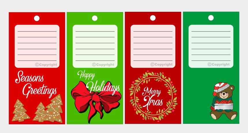 christmas gift tags clip art, Cartoons - Xmas Gift Tag Set