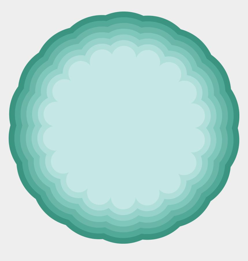 scallop circle clip art, Cartoons - Illustration