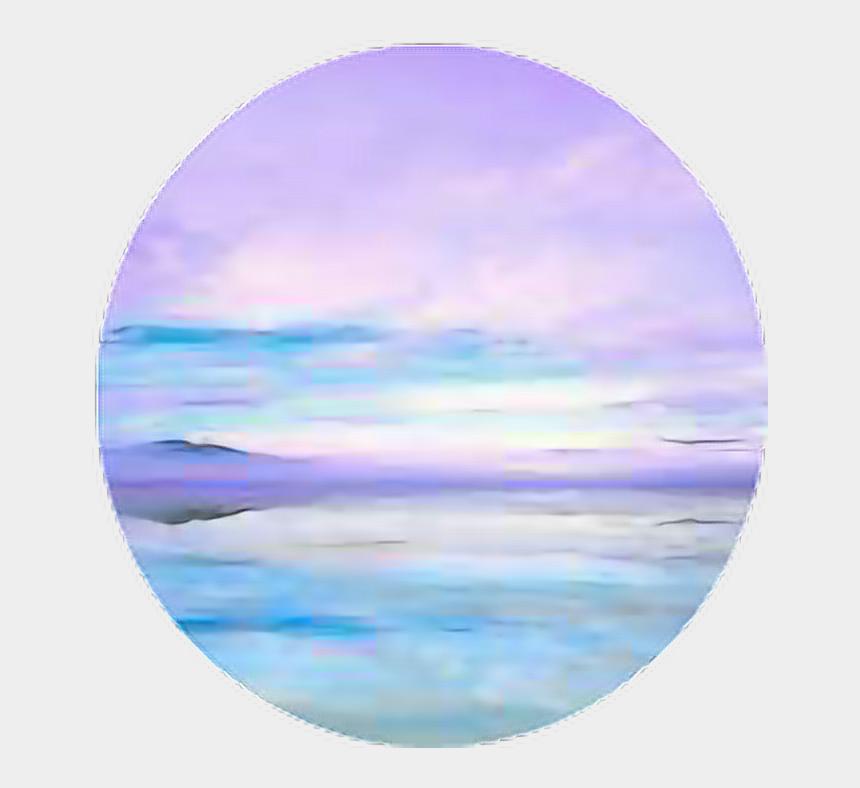 horizon clip art, Cartoons - Circle Aesthetic Aestheticcircle Pastel - Sea