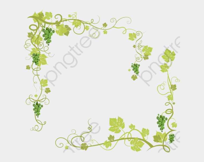 floral vine clip art, Cartoons - Grape Vine Png Transparent Transparent Background - Grape Vine Border