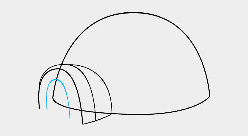 igloo clip art black and white, Cartoons - How To Draw Igloo - Line Art