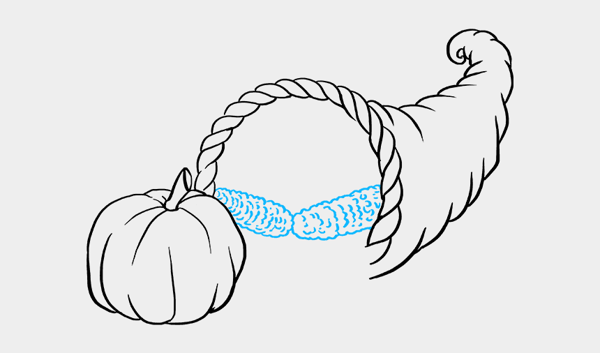 cornucopia images clip art, Cartoons - How To Draw Cornucopia - Line Art