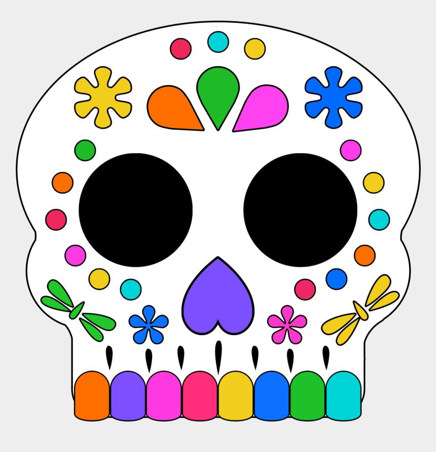 sugar skull clip art free, Cartoons - Day Of The Dead Masks Sugar Skulls Free Printable - Sugar Skull Printable Mask