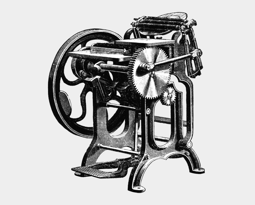 ben franklin clip art, Cartoons - Gordon Franklin Platen Press