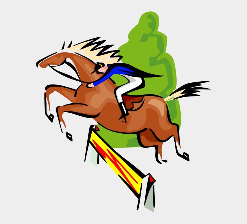 equestrian clip art, Cartoons - Vector Illustration Of Sports Equestrian Horse Jumping - Horse Jumping Cartoon