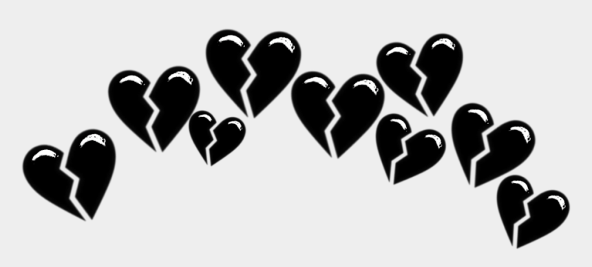 black crown clip art, Cartoons - #tumblr #black #crown #brokenhearts #heart #followme - Black Broken Heart Emoji Crown