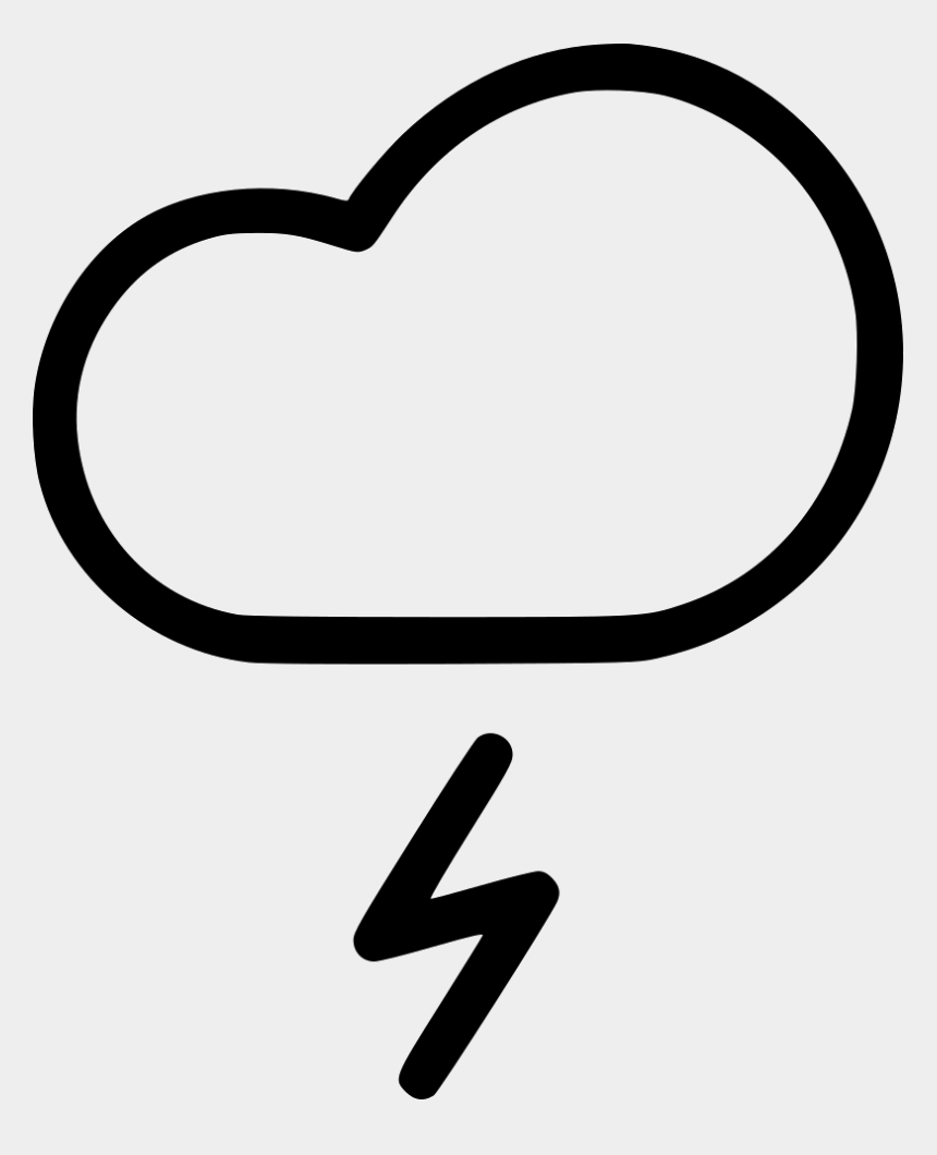 weather clip art black and white, Cartoons - Lightning Cloud Rain Thunder Weather Storm Comments - Rain