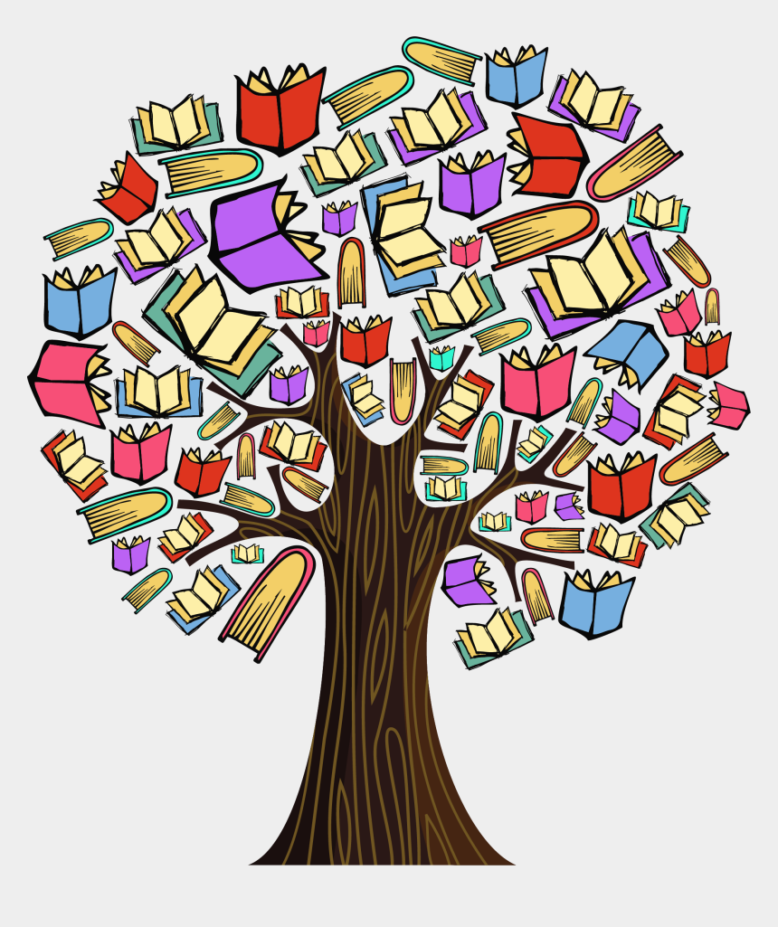 education clipart, Cartoons - Colourful Book Tree Milk Specialist Ⓒ - Book Tree
