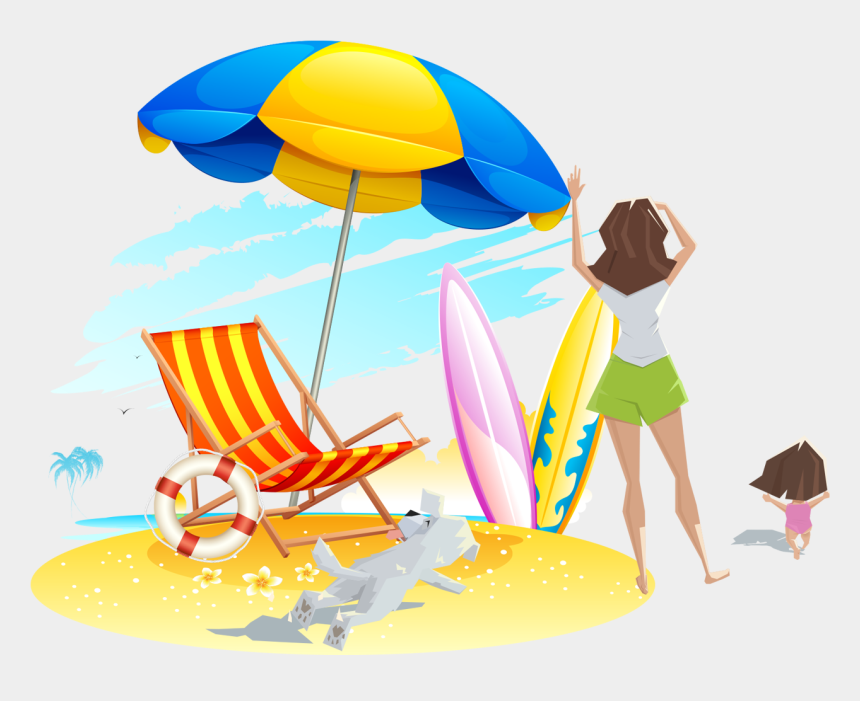 beach clipart, Cartoons - Sandy Beach Clipart Transparent - Beach Umbrella Clipart