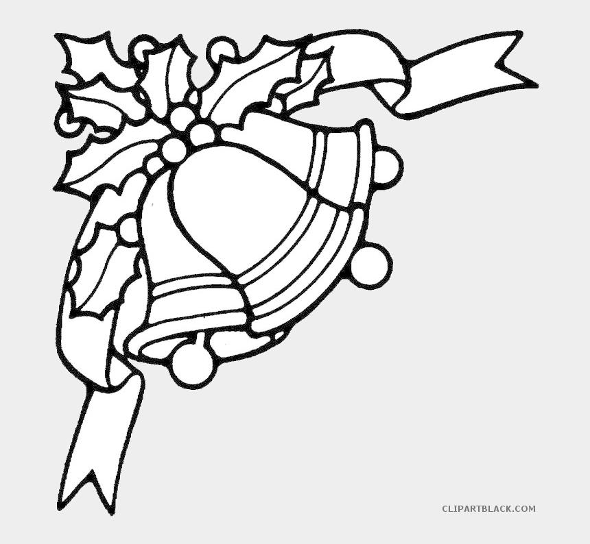 christmas clipart black and white, Cartoons - Page 9 Of - Black And White Christmas Bells Clipart