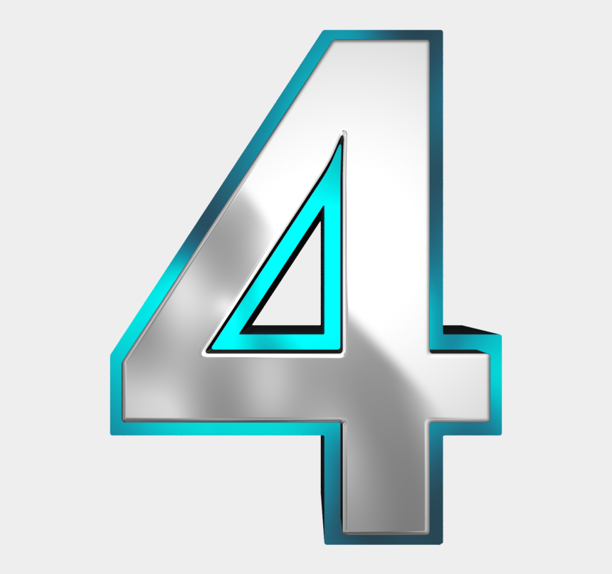 numbers clipart, Cartoons - Numbers ‿✿⁀ - Number Four Png