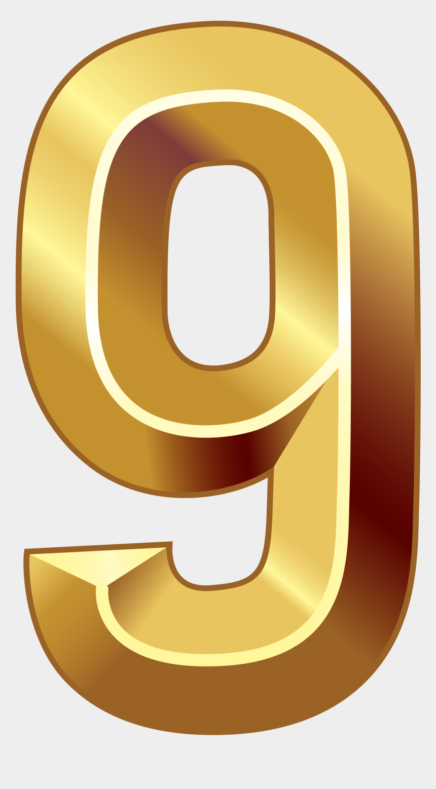 numbers clipart, Cartoons - Numbers Clipart Series - Gold Number Nine