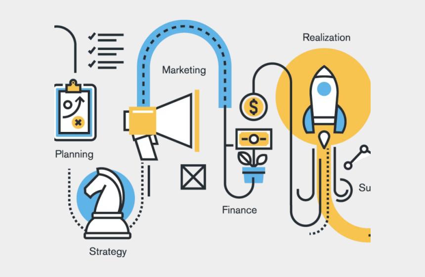 business clipart, Cartoons - Business Clipart Strategic Management - Process Of Start Up