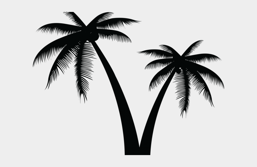 coconut tree clipart, Cartoons - Vector Clipart Coconut Tree - Palm Tree Silhouette Transparent Background