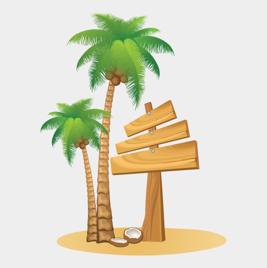 coconut tree clipart, Cartoons - Luau Clipart Coconut Tree - Clip Art Coconut Tree Png