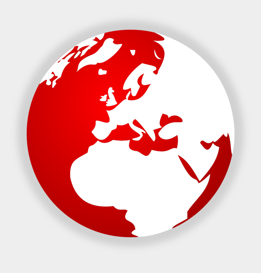 clipart online, Cartoons - Red World Free Images At Clker Com Vector Clip Art - Red World Logo Png