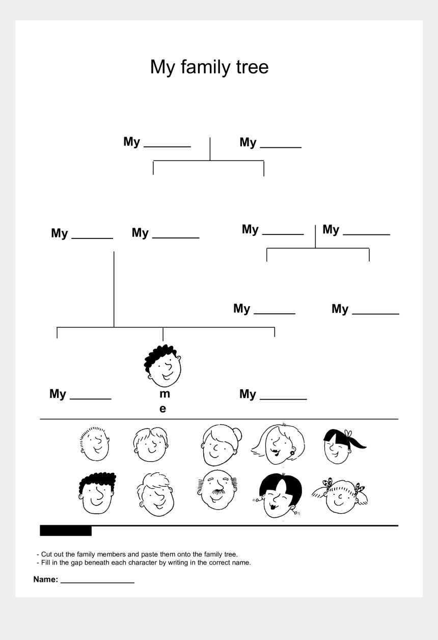 family tree clipart, Cartoons - Free My Family Tree Templates At Allbusinesstemplates - Template My Family Tree