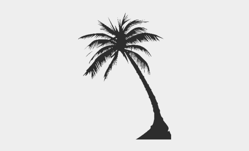 coconut tree clipart, Cartoons - Palm Tree Silhouette Png - Palm Tree Vector Transparent Background