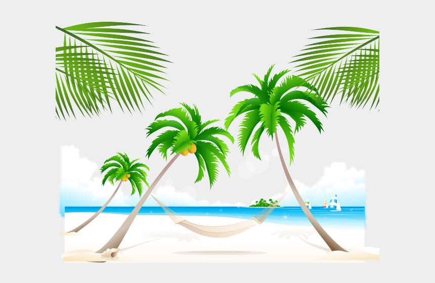 coconut tree clipart, Cartoons - Summer Clipart Coconut Tree - Vector Graphics