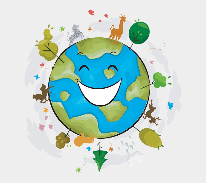 earth day 2017 clipart, Cartoons - Happy Earth Cartoon Png