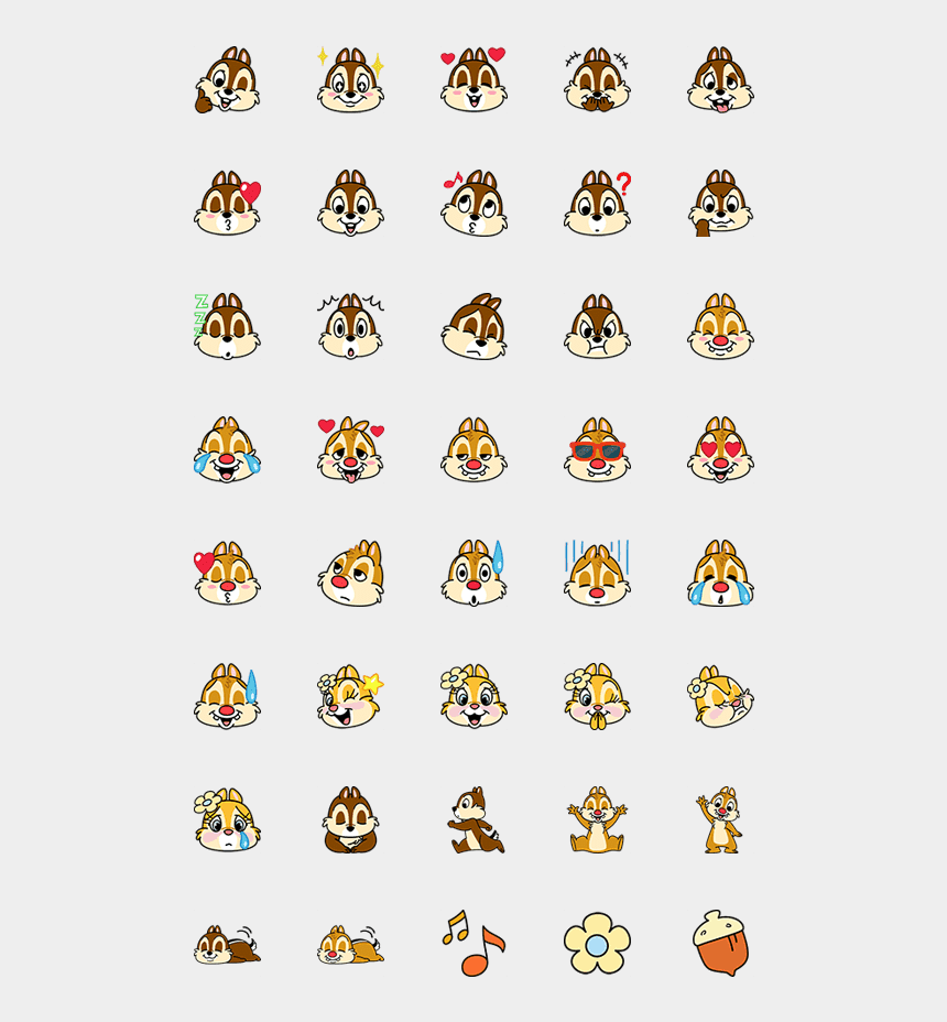 chip and dale clip art, Cartoons - Emoji Chip And Dale