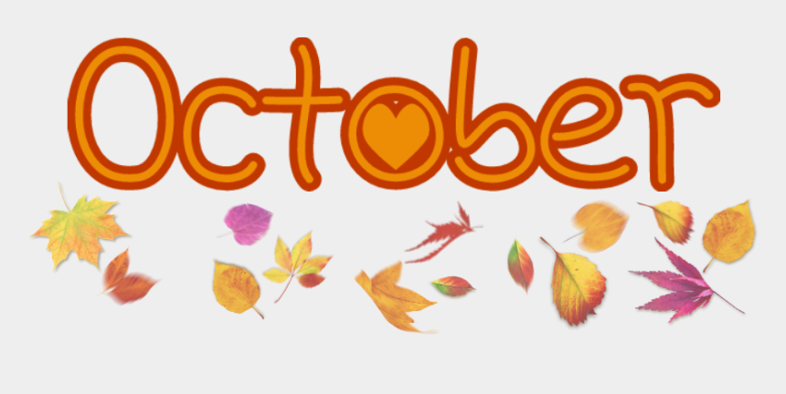 october word clipart, Cartoons - ***use Freely And - Colorful Autumn