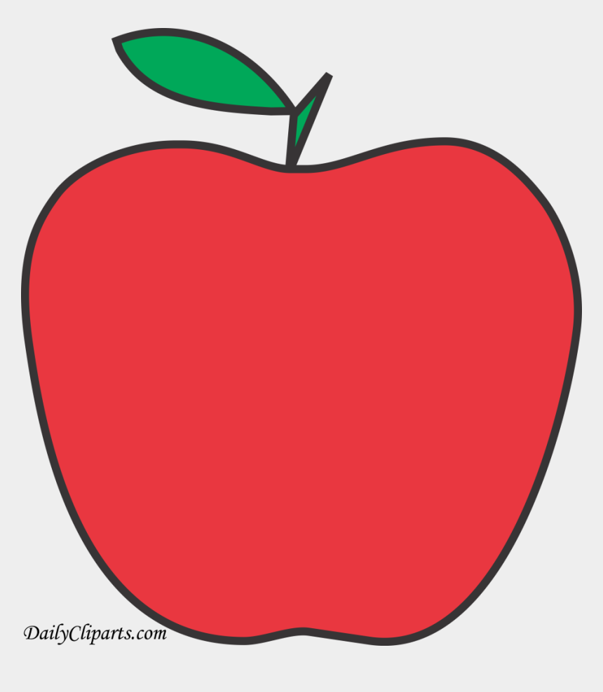apple fruit images clip art, Cartoons - Apple Fruit Design Line Art Red
