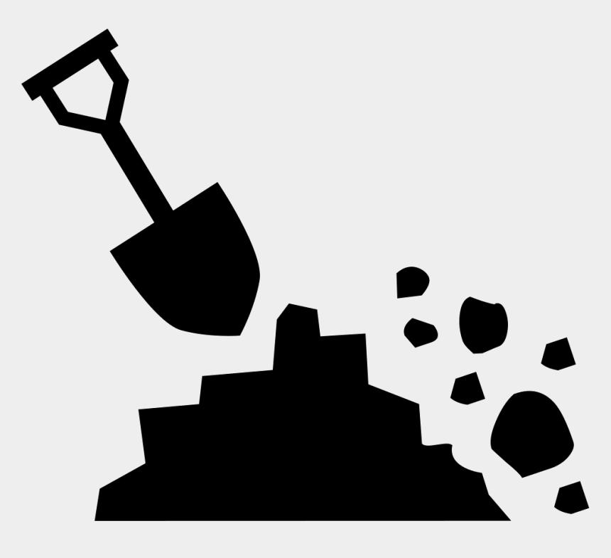 shovel clip art black and white, Cartoons - Clip Art,black And White,graphics,logo - Icono De Tierra Png