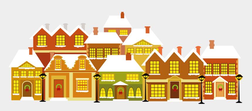 row of houses clip art, Cartoons - Cartoon House Christmas - Christmas House Background Clipart