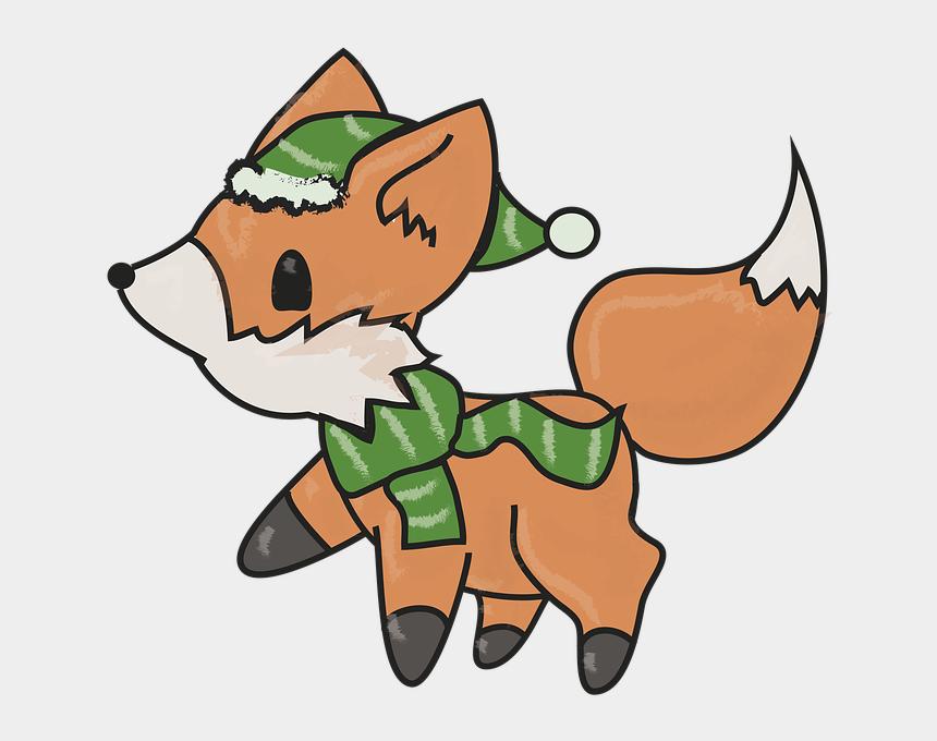 winter animal clip art, Cartoons - Fuchs, Winter, Winter Motif, Animal World, Animals - Tiere Im Winter Comic