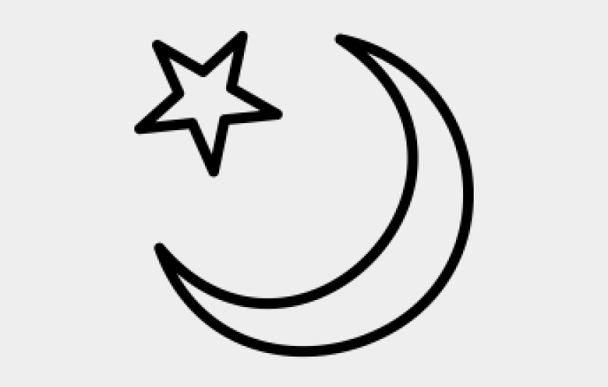 moon and stars clip art black and white, Cartoons - Crescent Moon And Star Pictures - Crescent Moon With Star Png