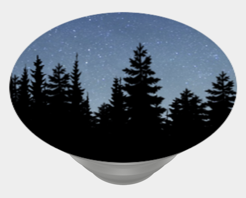 pine trees forest clip art, Cartoons - Night Forest, Popsockets - Pine Tree Vector Png