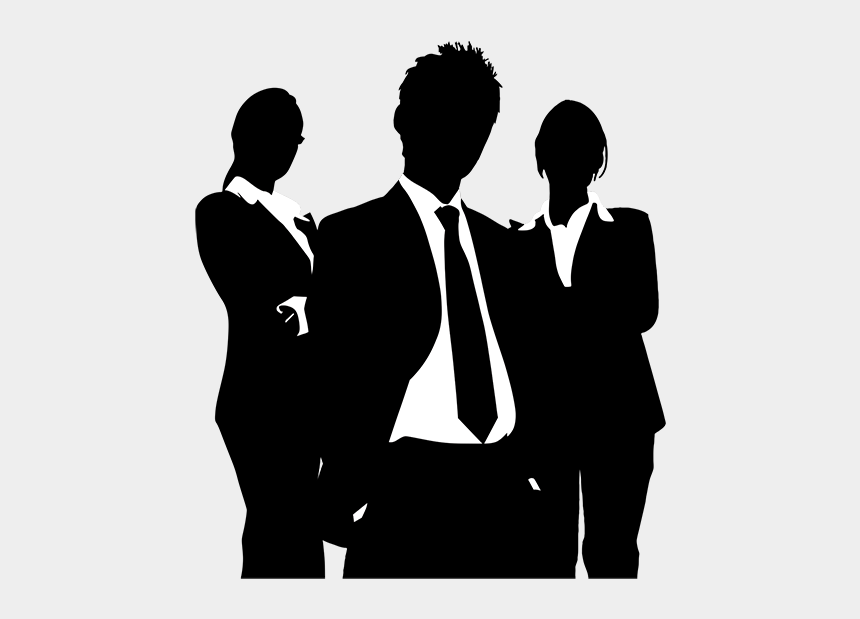 business people silhouette clip art, Cartoons - Poster Recruitment Advertising - Business People Silhouette Png