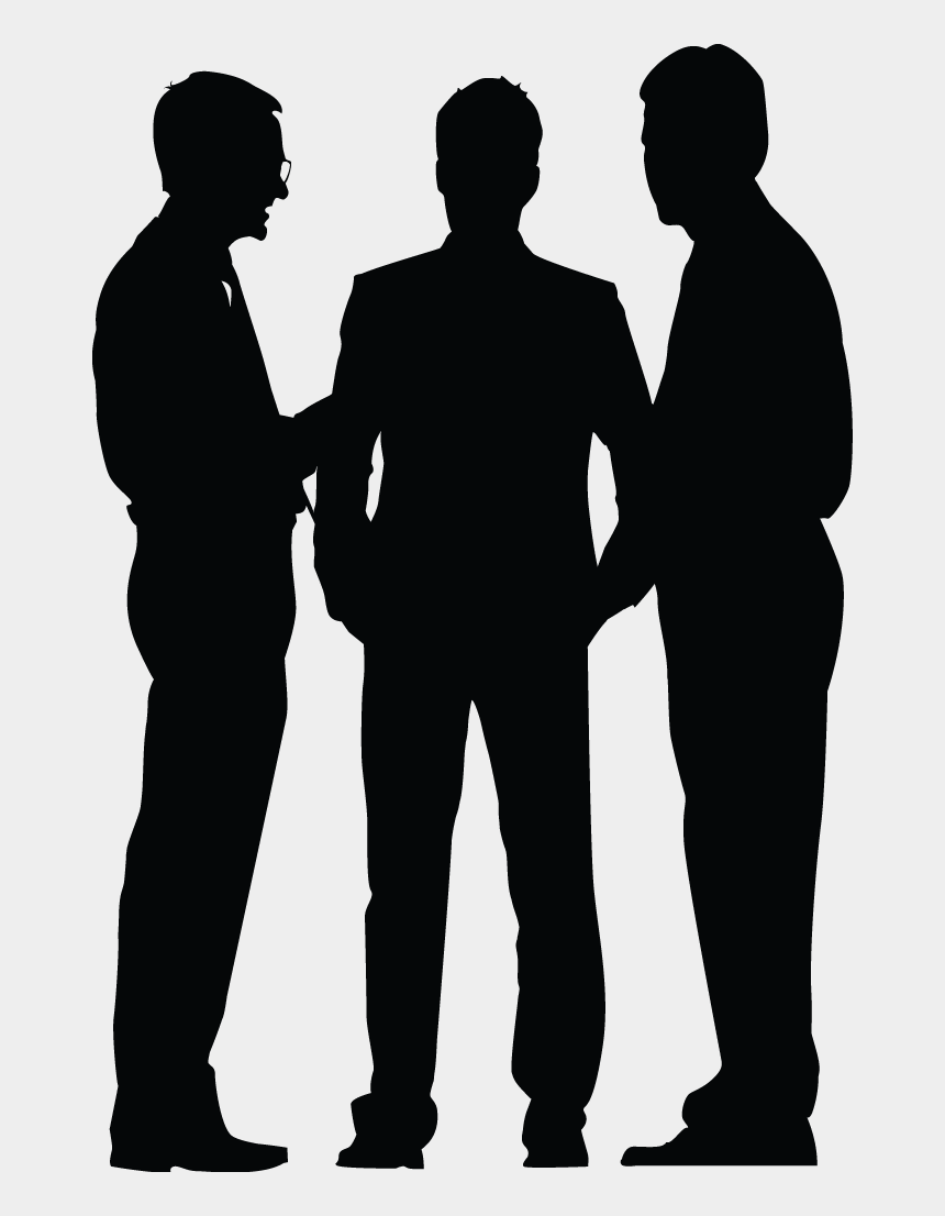 business people silhouette clip art, Cartoons - Business Meeting Silhouette - Business People Silhouette Png