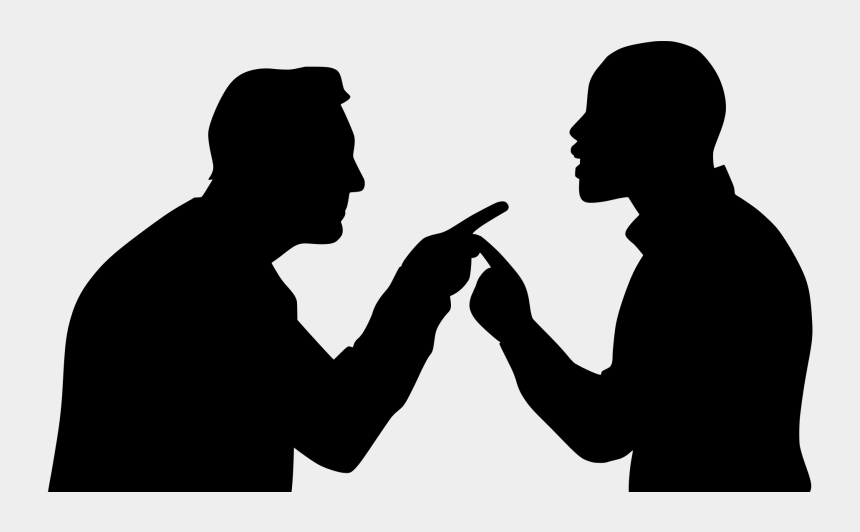 business people silhouette clip art, Cartoons - Angry Silhouette - Argumentative Communication