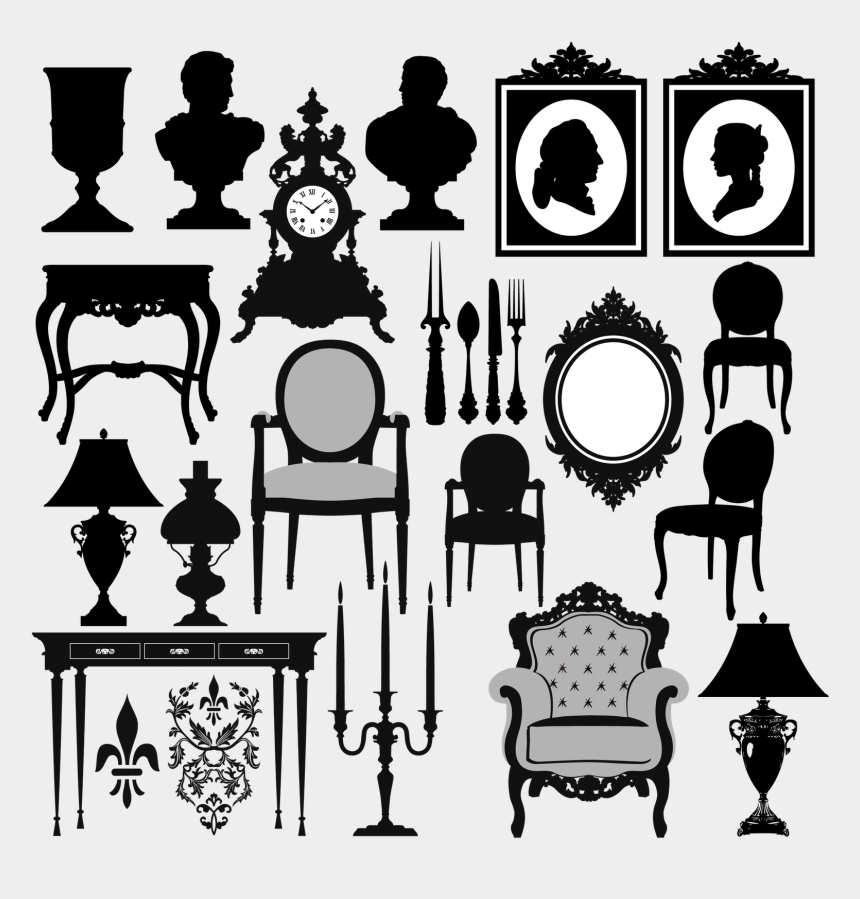 beach chair silhouette clip art, Cartoons - Vector Furniture Silhouettes - Antique Furniture Vector Free