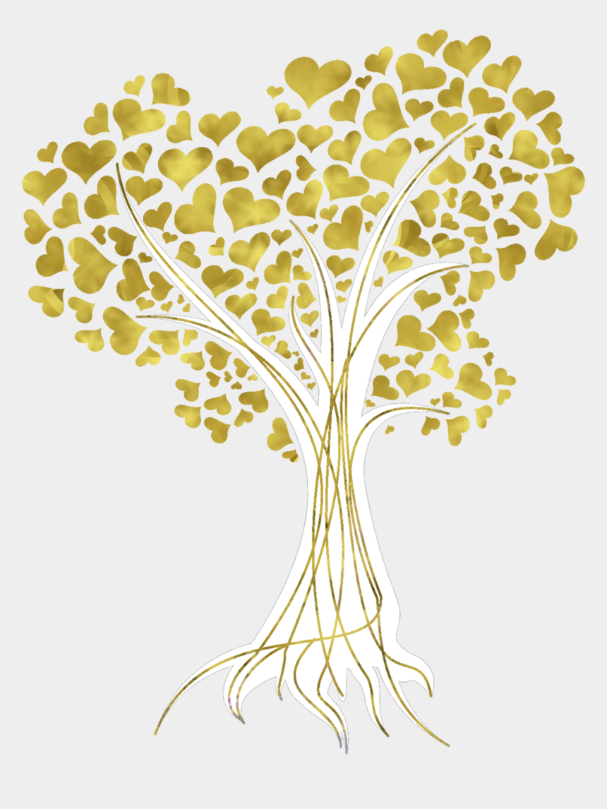 fall heart tree clip art, Cartoons - Tree Gold Autumn Leaf Color Clip Art - Gold Tree Vector Png