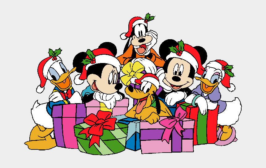 minnie mouse christmas clipart, Cartoons - Mickey And Friends Christmas Clipart , Png Download - Mickey And Friends Christmas