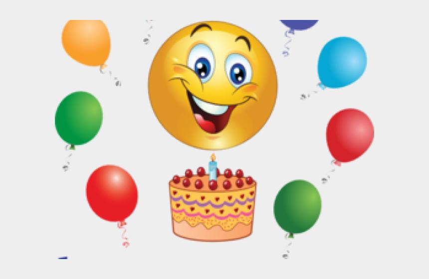 clipart of happy faces, Cartoons - Emoji Clipart Celebration - Smiley Happy Birthday Emoji