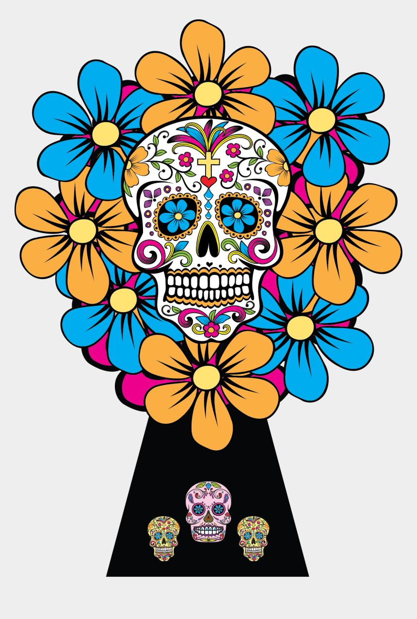dia de los muertos clipart, Cartoons - Diadelosmuertos Original - Skulls Of Dia De Los Muertos Png