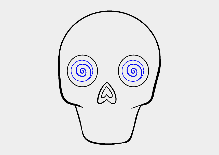 day of the dead clipart, Cartoons - How To Draw A - Day Of The Dead Skull Step By Step