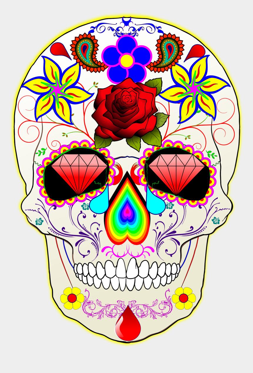 dia de los muertos clipart, Cartoons - Dia De Los Muertos Memories - Sugar Skull Transparent Background