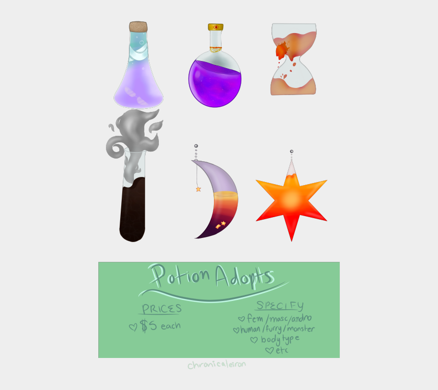 potion bottle clipart, Cartoons - Time For Some Potion Adopts Message Me If You Want - Graphic Design