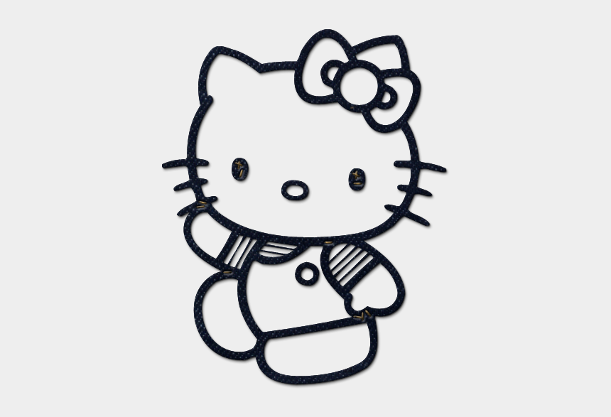 vet clipart black and white, Cartoons - Kitty Clipart Black And White - Printable Hello Kitty Colouring Pages