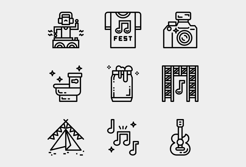 Music Festival Hobbies Icon Png Cliparts Cartoons Jing Fm
